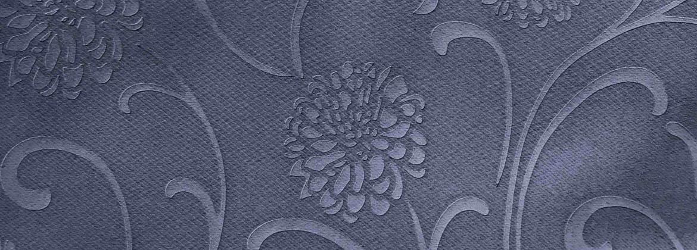 ผ้าม่านป้องกันแสงยูวี เนื้อผ้าอัดลาย ด้วยลายดอกไม้
