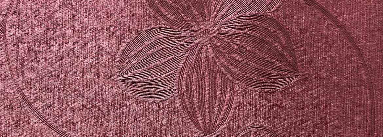 ผ้าม่านอัดลาย ผ้าเงาสวยหรูหรา ลวดลายดอกไม้ น่ารักสวยงาม